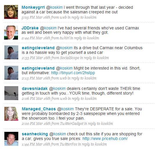 Twitter Car Responses