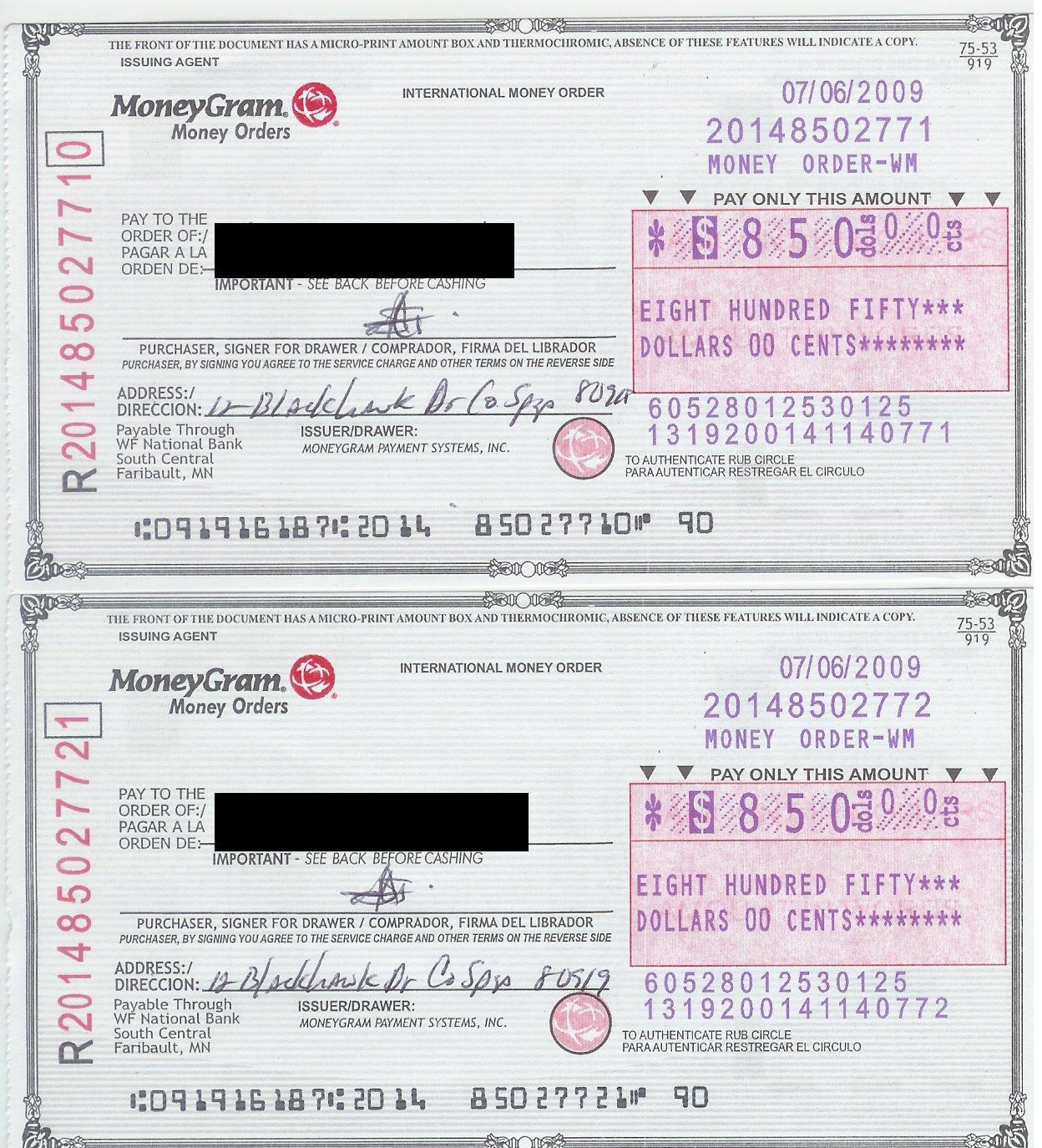 Image Collection How To Fill Out A Money Order Or Moneygram ...