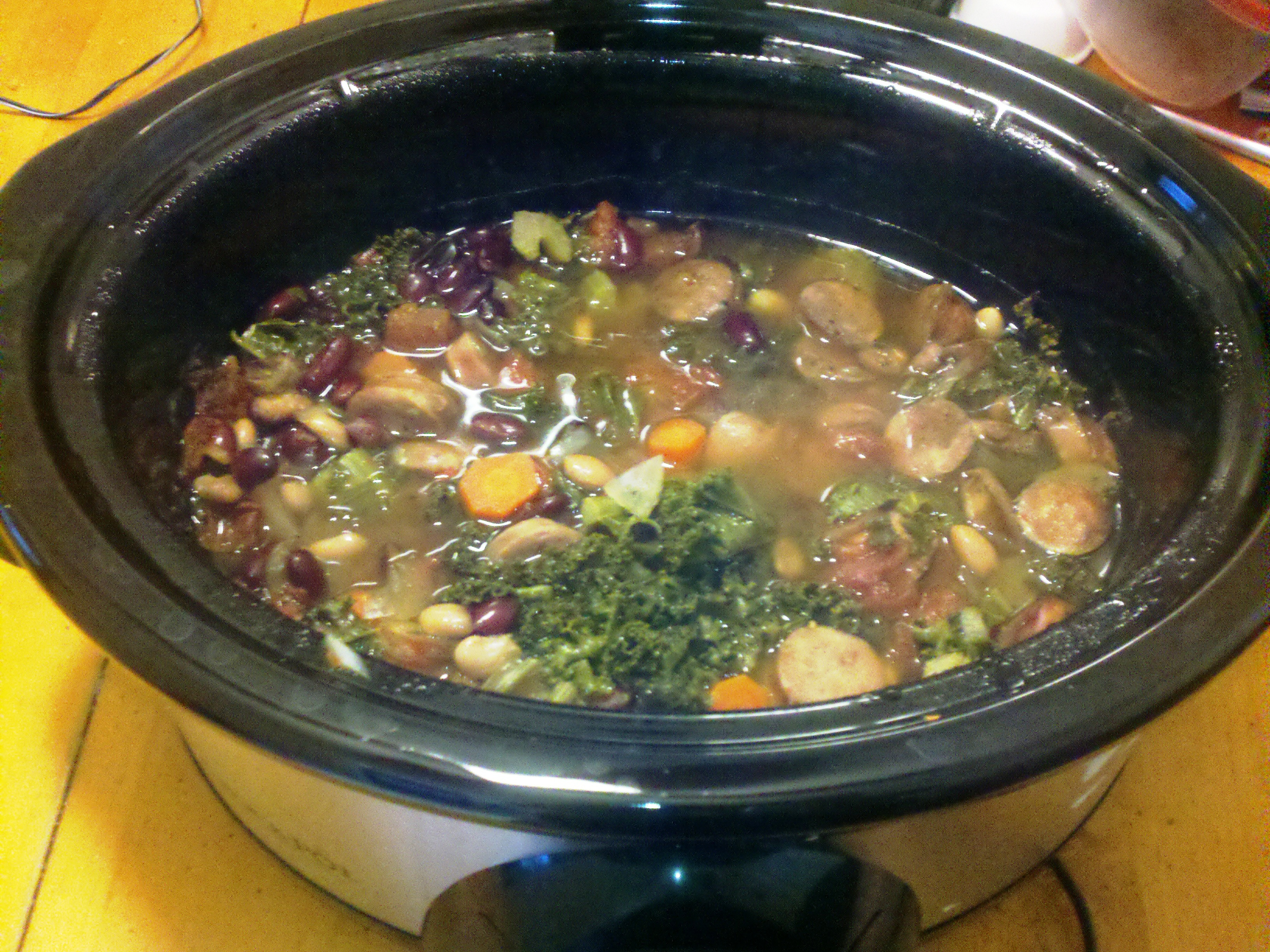 Kale is the new spinach subtitle healthy crockpot recipe for Crock pot vegetarian recipes healthy