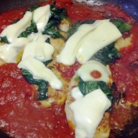Chicken Marinara with Spinach and Mozzarella