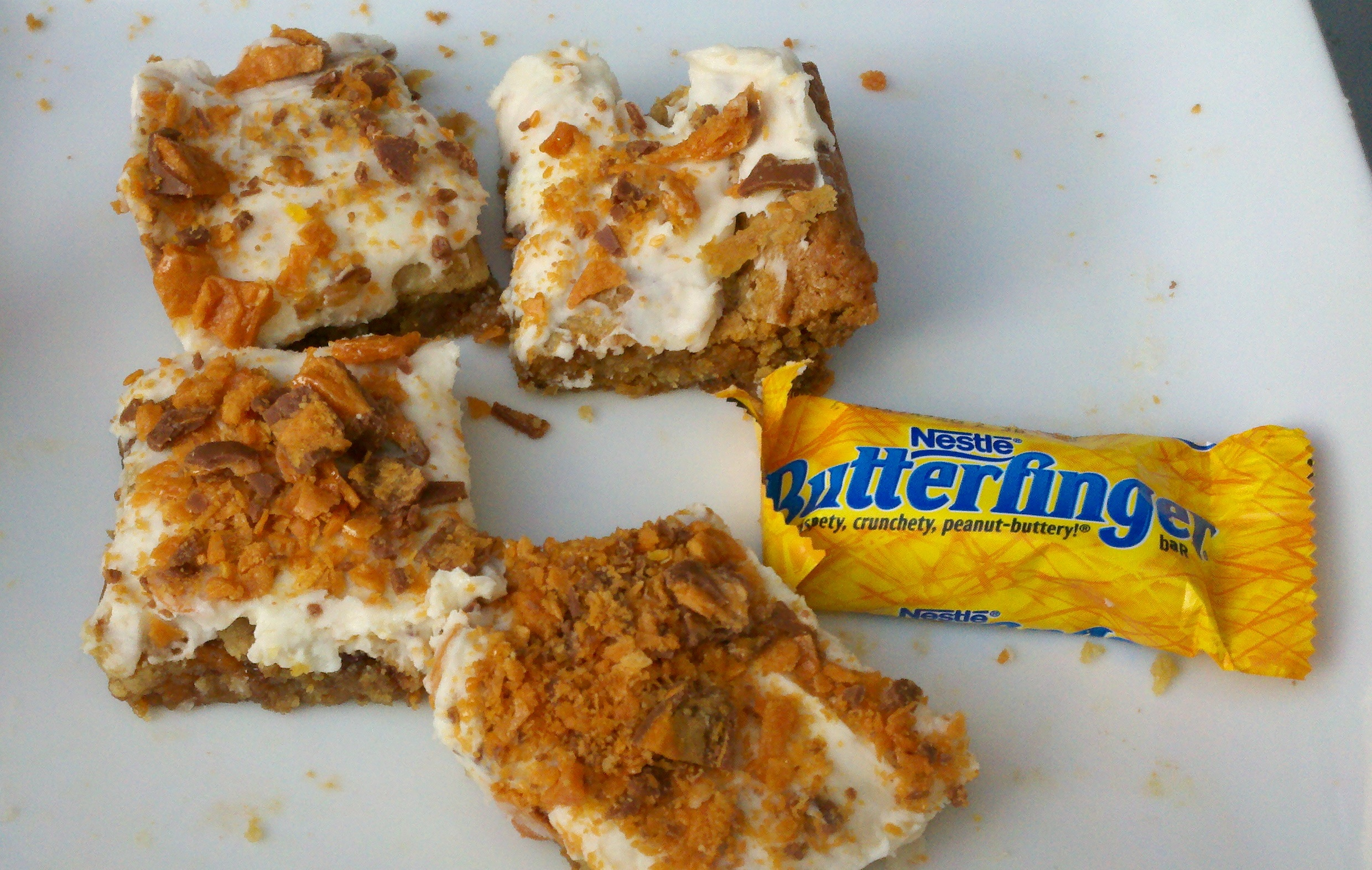 Butterfinger Cookie Bars | I Crashed The Web