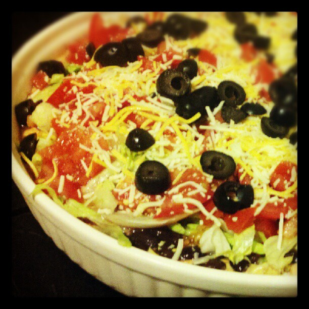 low fat taco dip appetizer