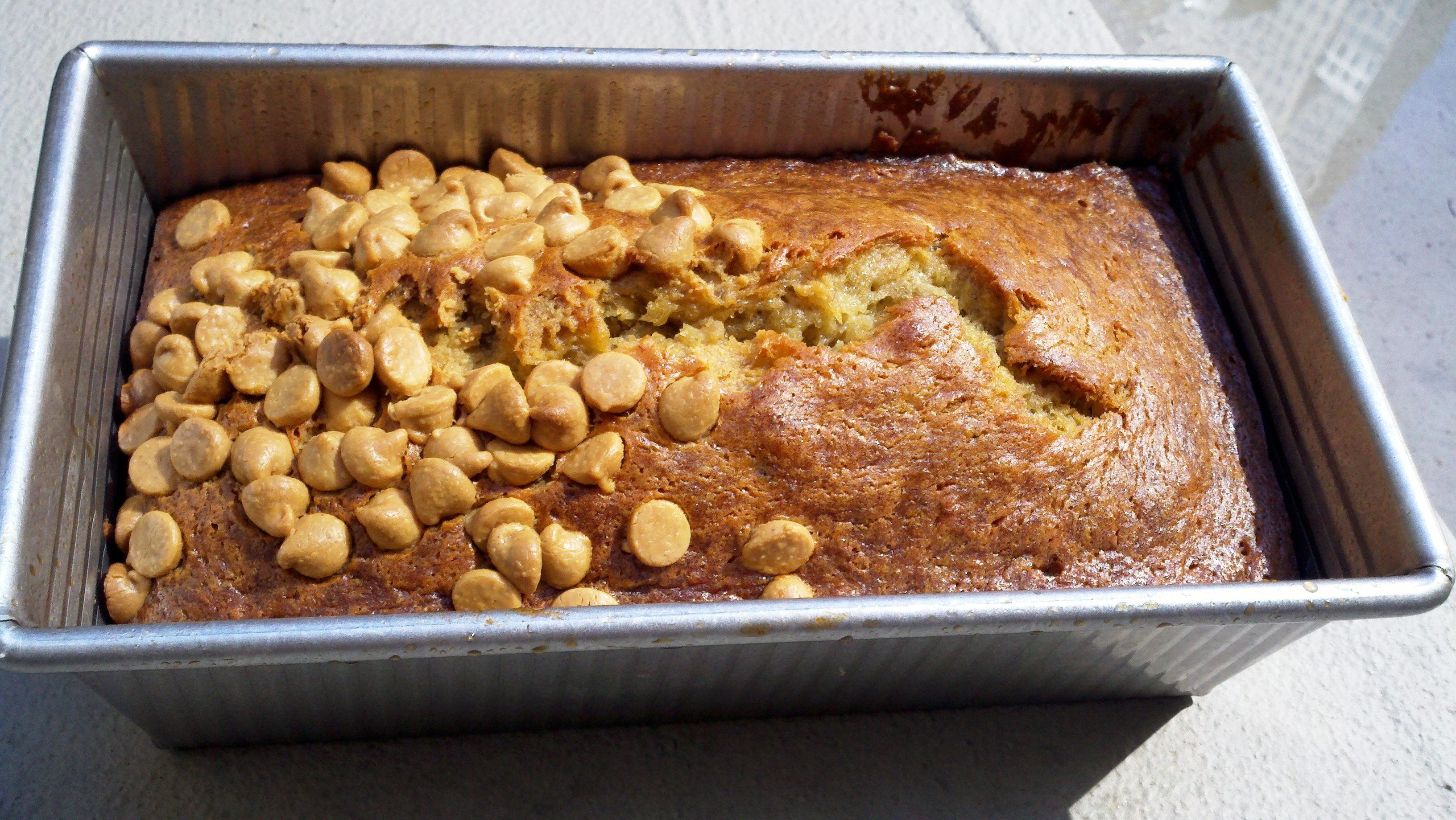 best banana bread - with peanut butter chips