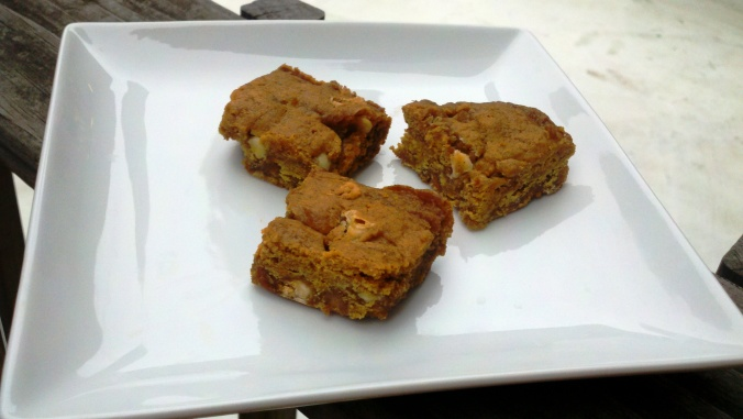 pumpkin blondies fall baking