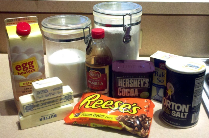 chocolate peanut butter chip cookies ingredients