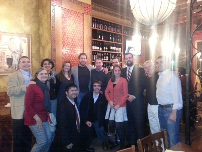 BC alumni at our holiday party at one of my fave restaurants - TAZA!