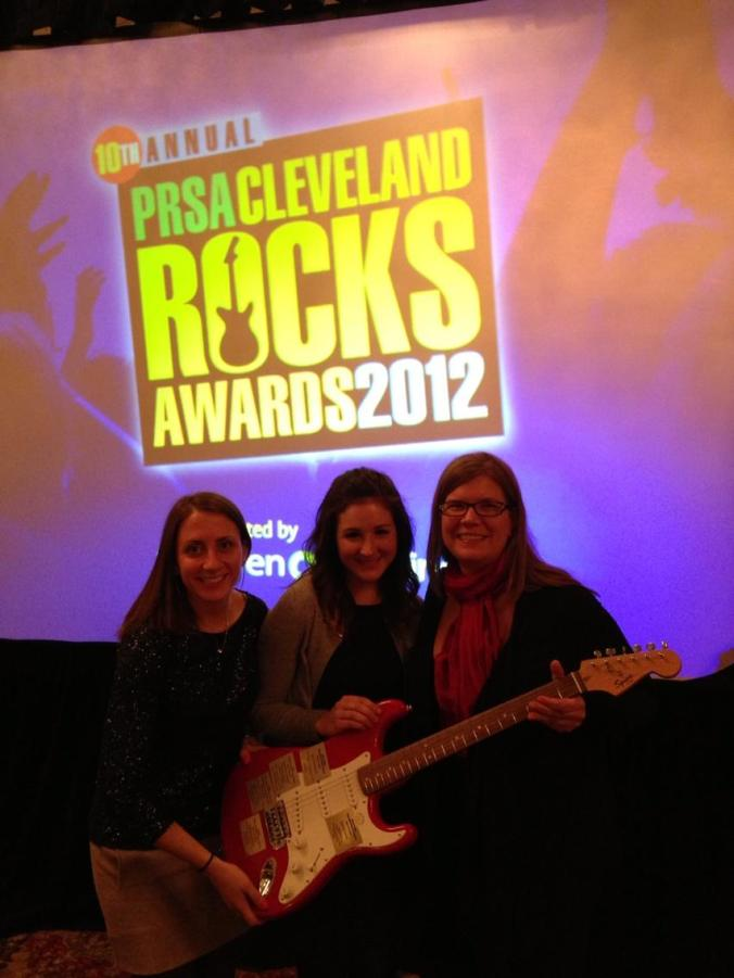 Best In Show winners with our award - a guitar!