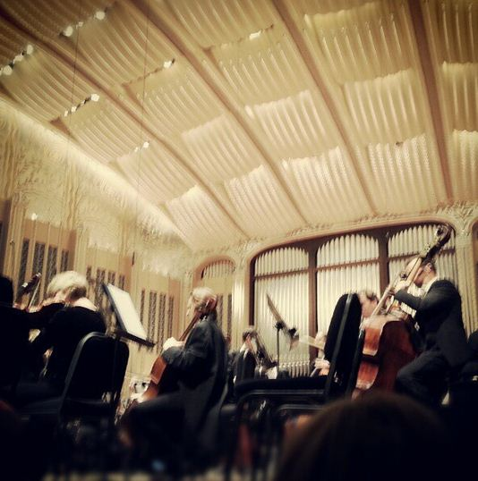 third row at the Cleveland Orchestra!