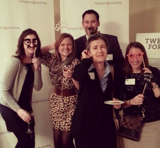 Coworkers Goofing Off At Our Photo Booth at the Awards