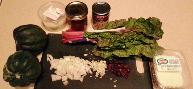 ingredients vegetarian stuffed acorn squash