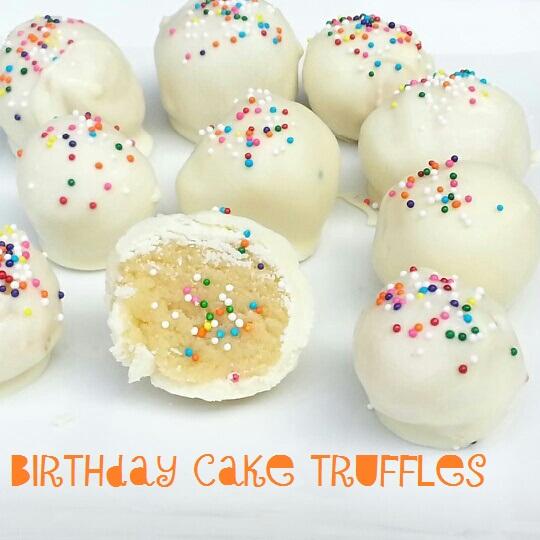 Superb Birthday Cake Truffles I Crashed The Web Personalised Birthday Cards Bromeletsinfo