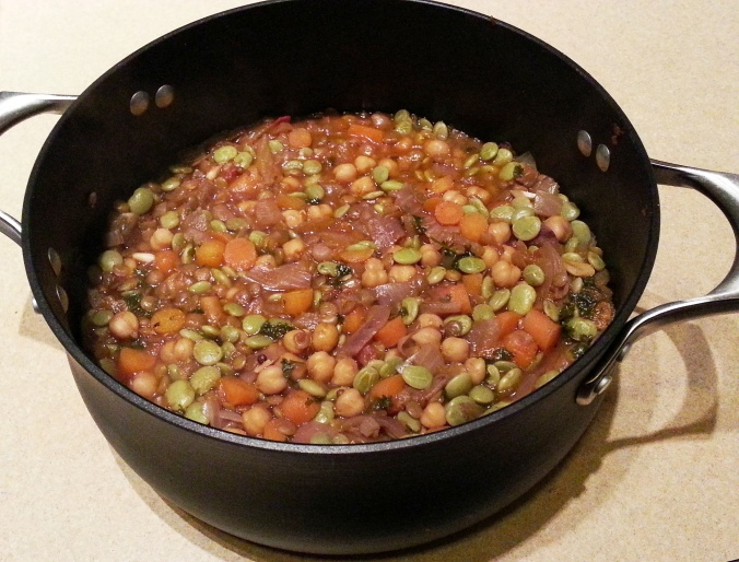 Garbanzo Bean, Lentil and Vegetable Stew