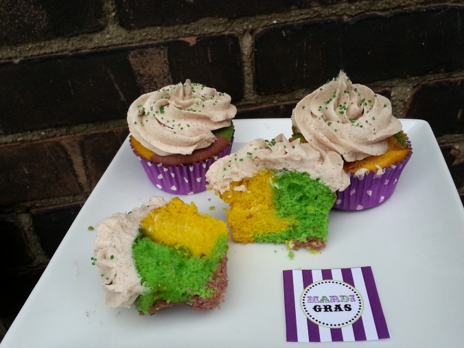 Mardi Gras Cupcakes for Fat Tuesday