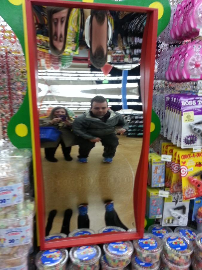 funhouse mirror in jungle jims