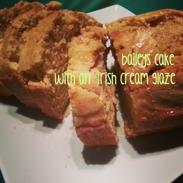 baileys cake with an irish cream glaze