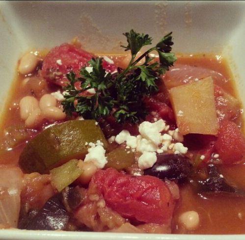 closeup of stew