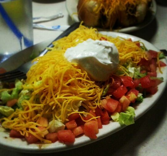 See how delicious meat free can be? (skyline chili's vegetarian burrito)