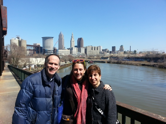 cleveland with my parents