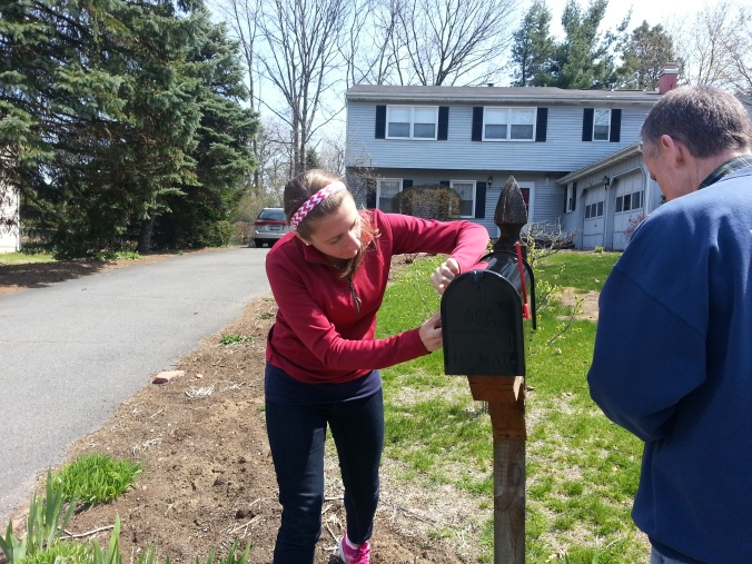 Yes, I'm doing handy work ... I helped my dad install a mailbox!