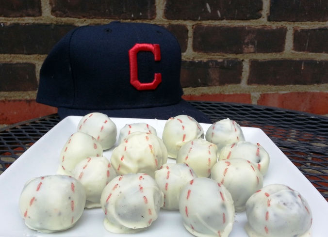 baseball cookies and cream truffles