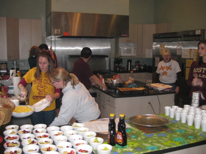 Cooking up some breakfast at last year's Day of Service