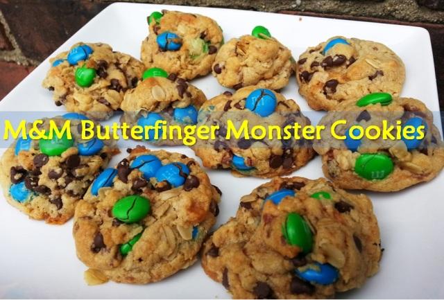 M&M Butterfinger Monster cookies