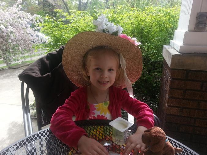B's niece in my hat