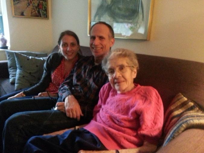 Grandma, dad and me