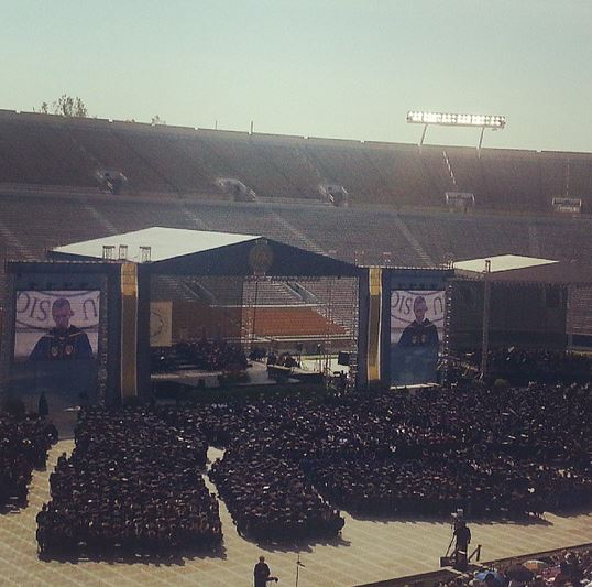Notre Dame Commencement. Check out all those grads!