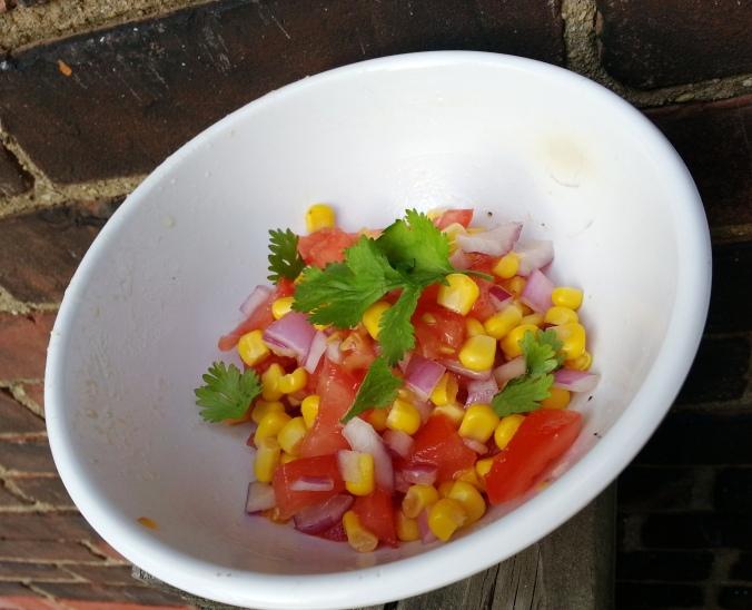 tomato corn onion cilantro salsa