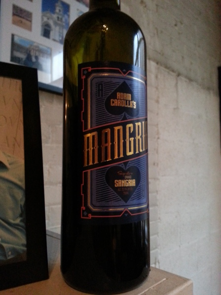 We finally broke open the mangria.