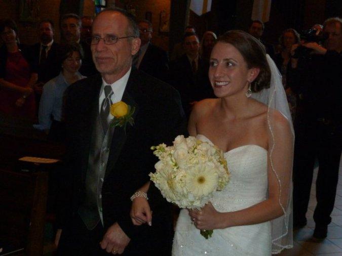 obligatory dad/daughter wedding photo. Love it :)