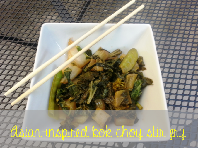 asian inspired bok choy stir fry with baby bok choy sugar snap peas and broccoli