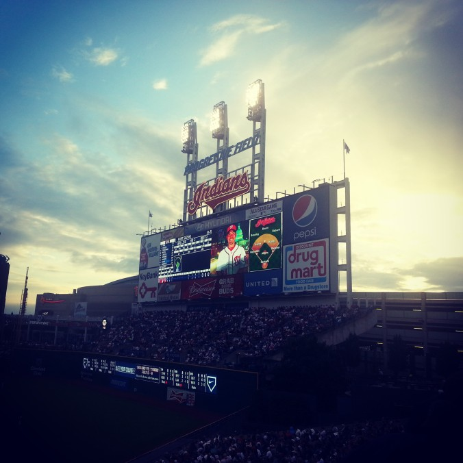 beautiful sky at indians game