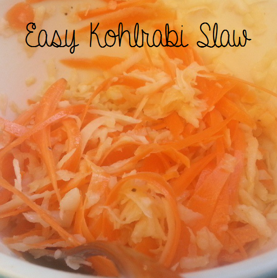 easy kohlrabi slaw  {i crashed the web}