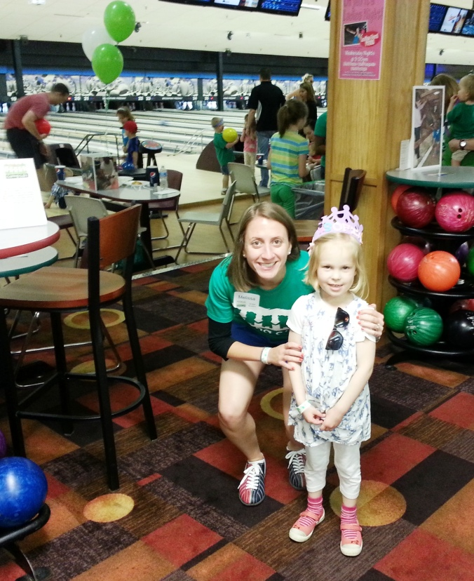 Hanging out at the Bowling Birthday Bash!