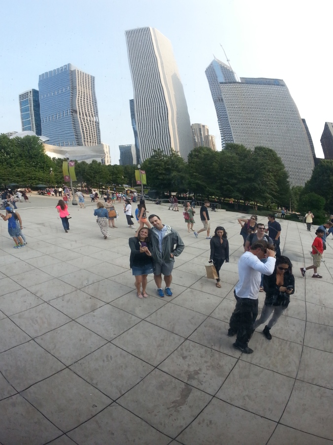 B and me in the bean!