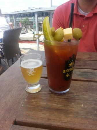 Benelux Bloody Mary and beer chaser. Yum!