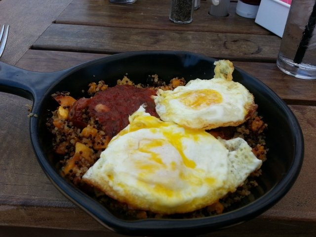 BEST brunch at Benelux- quinoa, squash and eggs!