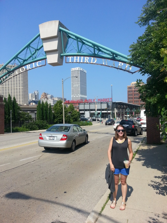 Entrance to the Historic Third Ward (and see the market in the background!)