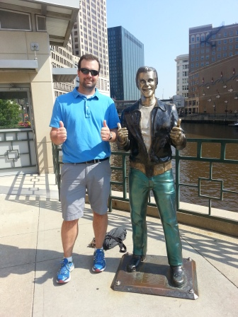 Heeeeey, it's the Fonz! (seen along the Riverwalk)