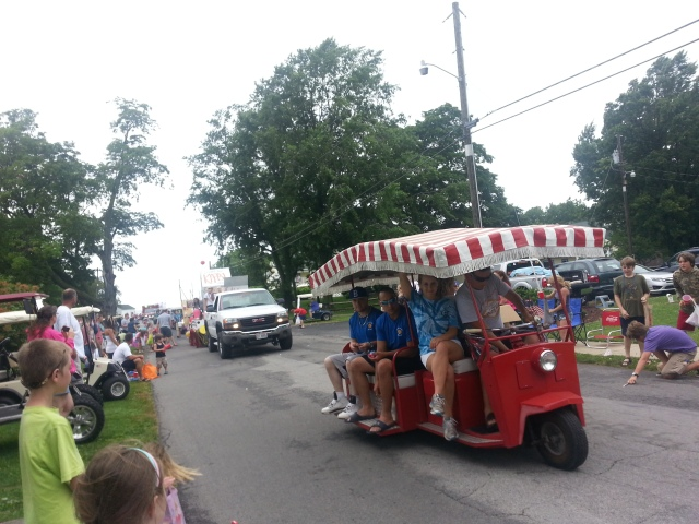 There was also a parade on Kelleys Island - this time with CANDY - for Islandfest!