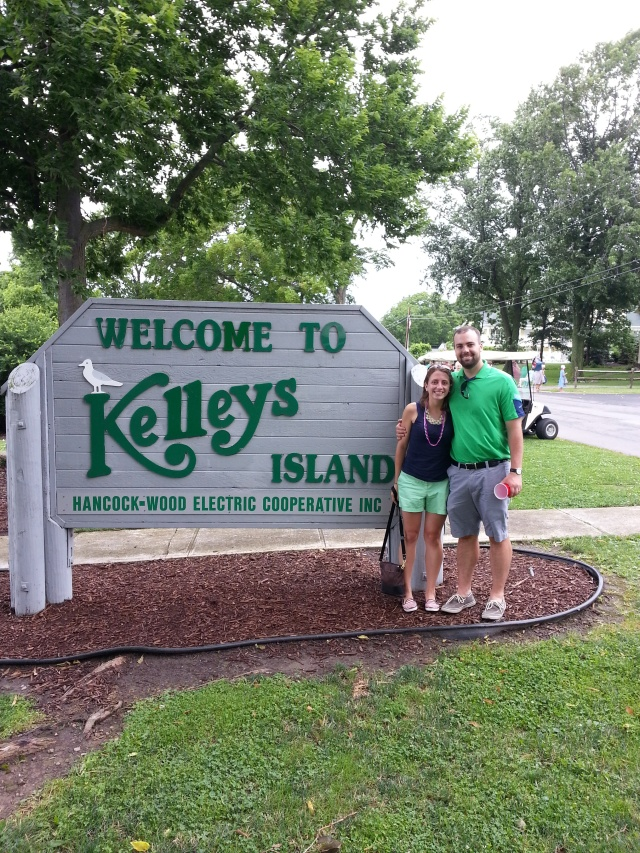 We got to Kelleys Island and of course got a couple picture. Yay us! (my dentist cook this picture)