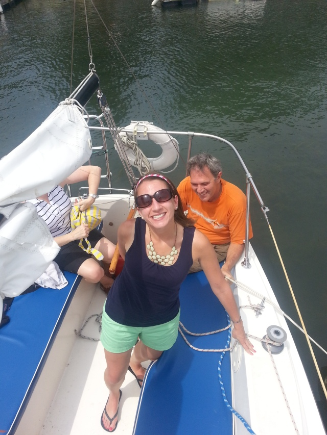 I'm happy to be on mini-vacation. And on a sailboat on Lake Erie :)
