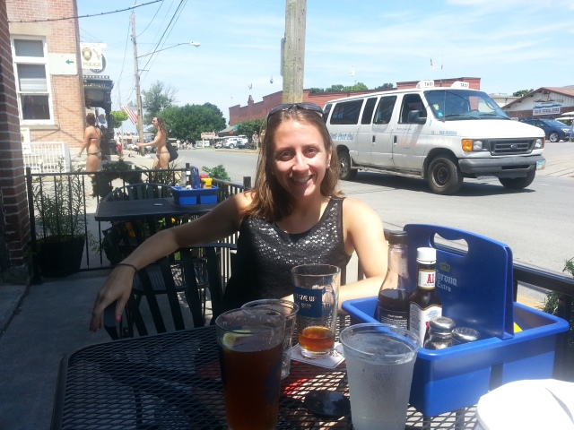 We grabbed lunch and drinks at the Put-In-Bay brewery. I tried their Watermelon Summer Draft - it was actually pretty good! Too sweet to have more than one though.