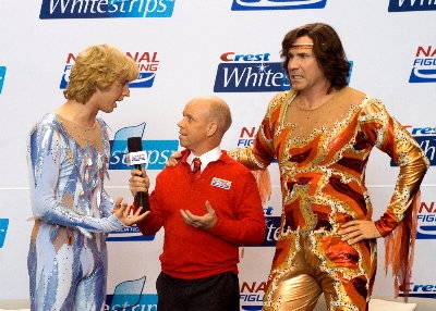 Scott Hamilton (center) will be at the event tonight. Pretty cool huh? He was an Olympic figure skater. And clearly also in Blades of Glory.