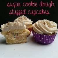 Happy National Sugar Cookie Day! Celebrating With Sugar Cookie Dough Filled Cupcakes {Recipe}