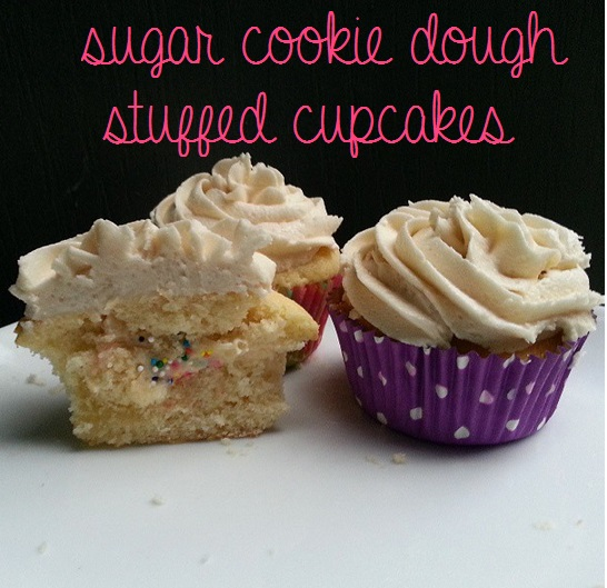 sugar cookie dough stuffed cupcakes {i crashed the web}