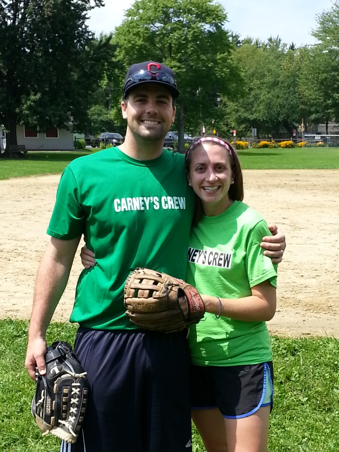 B and I have a very similar picture from the softball game two years ago. <3