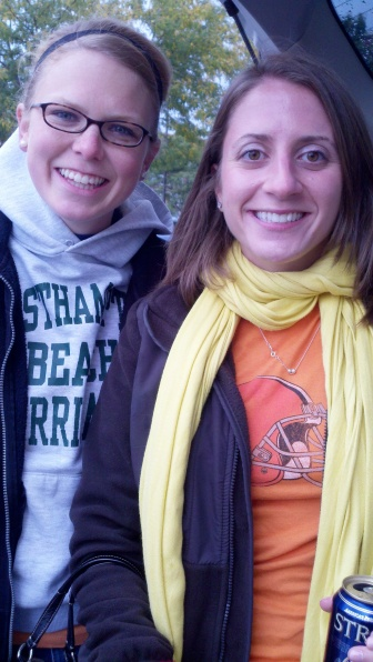 Tailgating with B's sister - brr!